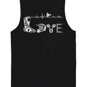 Love motocross – Férfi ujjatlan póló