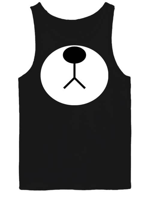 Férfi ujjatlan póló Maci orr fekete