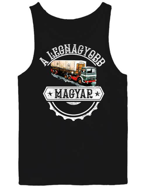 Férfi ujjatlan póló Rába kamion fekete