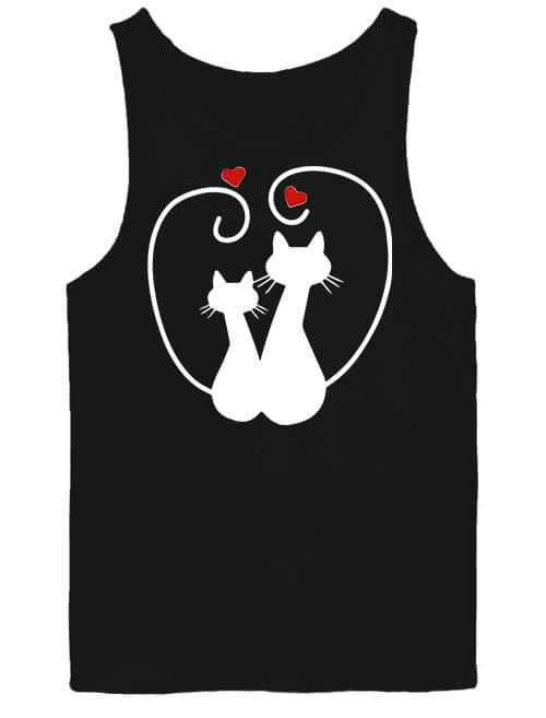 Férfi ujjatlan póló Szerelem fekete