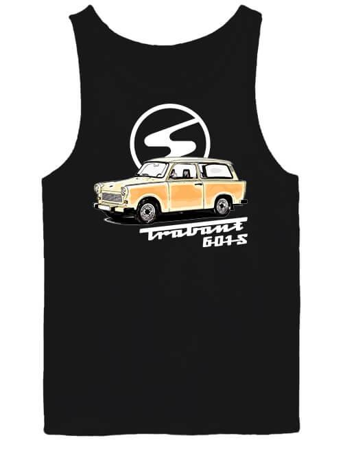Férfi ujjatlan póló Trabant 601 fekete