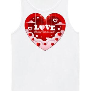 Valentin nap – Férfi ujjatlan póló