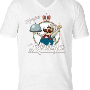 Konyha királya – Férfi V nyakú póló
