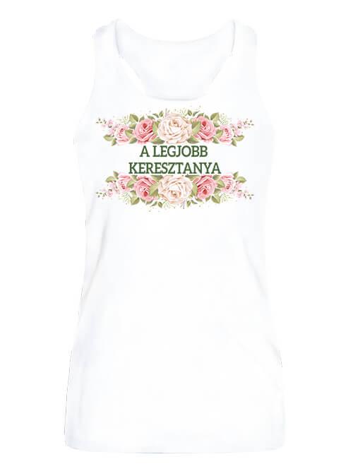 Női ujjatlan póló legjobb keresztanya