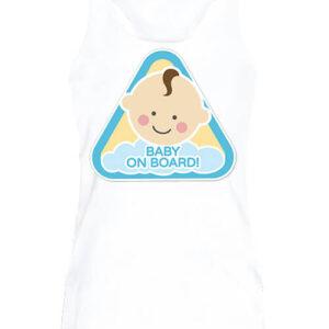 Baby on board fiú – Női ujjatlan póló