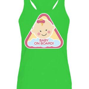 Baby on board lány – Női ujjatlan póló