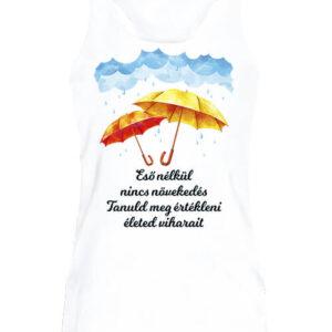 Eső nélkül nincs növekedés – Női ujjatlan póló