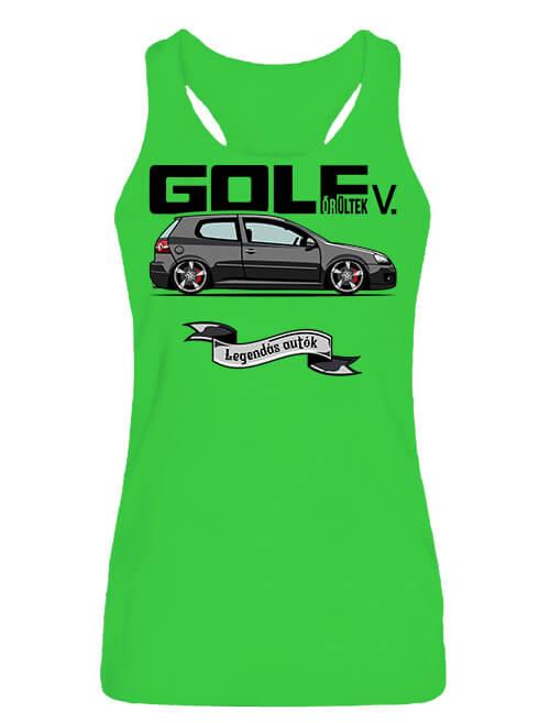 Női ujjatlan póló Golf őrültek