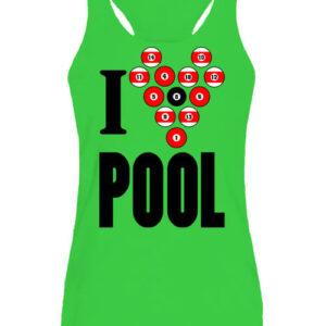 I love pool billiárd – Női ujjatlan póló