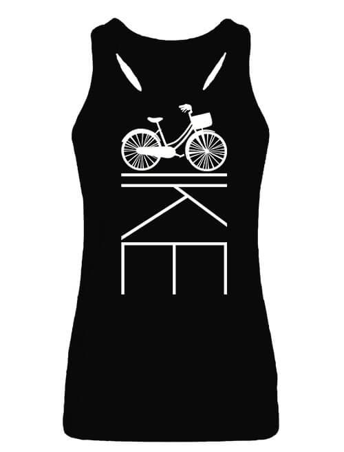 Női ujjatlan póló Kerékpár bringa