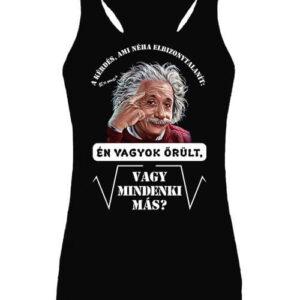Mindenki őrült Einstein – Női ujjatlan póló