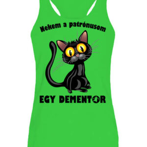 Patrónus cica – Női ujjatlan póló