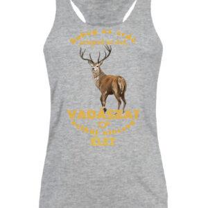 Suhog az erdő szarvas vadászat – Női ujjatlan póló