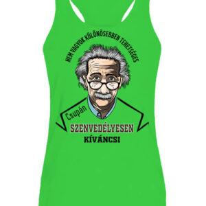 Szenvedélyes Einstein – Női ujjatlan póló