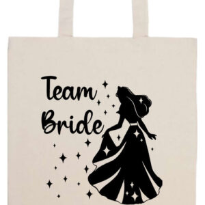 Team Bride Királykisasszony lánybúcsú- Prémium hosszú fülű táska