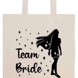 Team Bride Pocahontas lánybúcsú- Prémium hosszú fülű táska