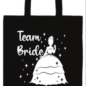 Team Bride Princess lánybúcsú- Basic hosszú fülű táska