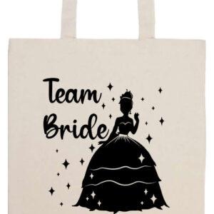 Team Bride Princess lánybúcsú- Prémium hosszú fülű táska