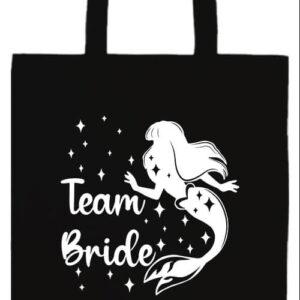 Team Bride Szirén lánybúcsú- Basic hosszú fülű táska