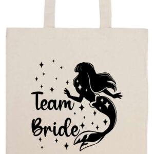 Team Bride Szirén lánybúcsú- Prémium hosszú fülű táska