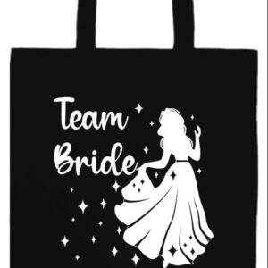 Team Bride Úrnő lánybúcsú- Prémium hosszú fülű táska