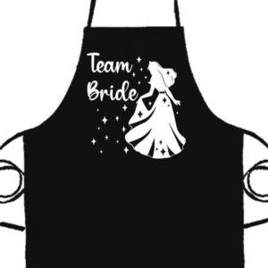 Team Bride Királykisasszony lánybúcsú- Prémium kötény