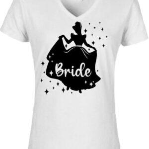 Bride Hercegnő lánybúcsú – Női V nyakú póló