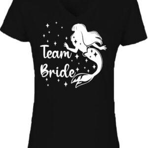 Team Bride Szirén lánybúcsú – Női V nyakú póló