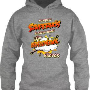 Szuperhős gépészmérnök – Unisex kapucnis pulóver
