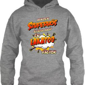 Szuperhős lakatos – Unisex kapucnis pulóver