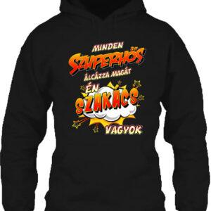 Szuperhős szakács – Unisex kapucnis pulóver