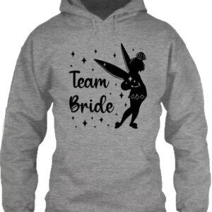 Team Bride Csingiling lánybúcsú – Unisex kapucnis pulóver