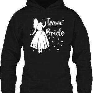 Team Bride Hercegnő lánybúcsú – Unisex kapucnis pulóver