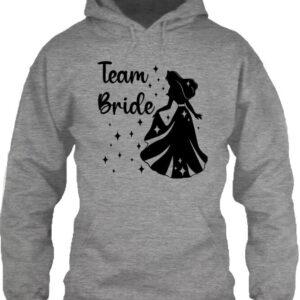 Team Bride Királykisasszony lánybúcsú – Unisex kapucnis pulóver