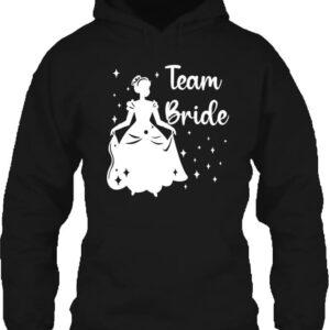 Team Bride Királylány lánybúcsú – Unisex kapucnis pulóver