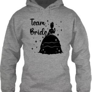 Team Bride Princess lánybúcsú – Unisex kapucnis pulóver