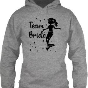 Team Bride Sellő lánybúcsú – Unisex kapucnis pulóver