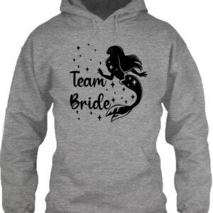 Team Bride Szirén lánybúcsú – Unisex kapucnis pulóver