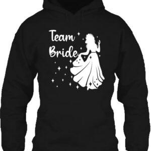 Team Bride Úrnő lánybúcsú – Unisex kapucnis pulóver