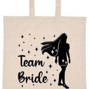 Team Bride Pocahontas lánybúcsú- Basic rövid fülű táska