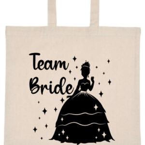 Team Bride Princess lánybúcsú- Basic rövid fülű táska
