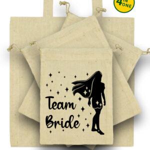 Team Bride Pocahontas lánybúcsú – Táska szett