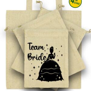 Team Bride Princess lánybúcsú – Táska szett
