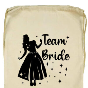 Team Bride Hercegnő lánybúcsú- Basic tornazsák