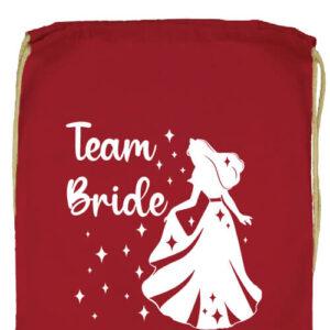 Team Bride Királykisasszony lánybúcsú- Prémium tornazsák