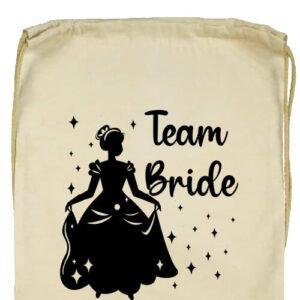 Team Bride Királylány lánybúcsú- Basic tornazsák