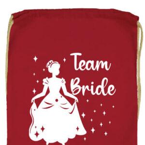 Team Bride Királylány lánybúcsú- Prémium tornazsák
