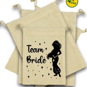 Team Bride Jázmin lánybúcsú – Vászonzacskó szett