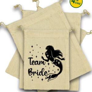 Team Bride Szirén lánybúcsú – Vászonzacskó szett
