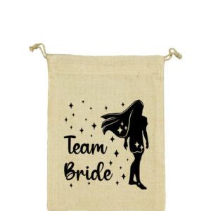 Team Bride Pocahontas lánybúcsú – Vászonzacskó kicsi